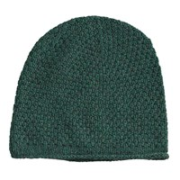 Lowie Rolled Hem Cashmere Blend Beanie In Forest Green