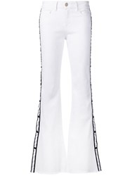Don't Cry Flared Jeans White