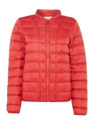 Part Two Lightweight Quilted Coat Red