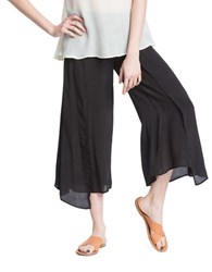 Plenty By Tracy Reese Solid Wrap Culottes Black