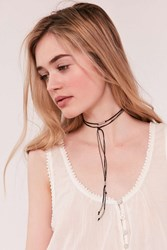 Urban Outfitters Beaded Wrap Choker Necklace Black