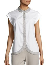 Peserico Rose Petal Shirt White Grey