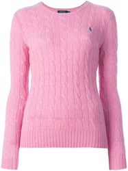 Polo Ralph Lauren Round Neck Pullover Pink And Purple