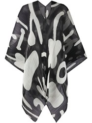 Issey Miyake Pleats Please Abstract Print Pleated Scarf 60