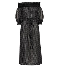 Lisa Marie Fernandez Off The Shoulder Cotton Dress Black