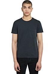 Saint Laurent Crew Neck Pocket T Shirt Black