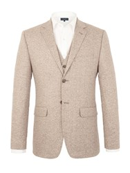 Racing Green Turner Tailored Fit Jacket Sand