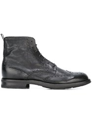 Pantanetti Lace Up Boots Black