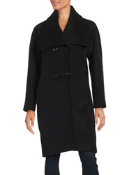 Jones New York Envelope Collar Coat Black