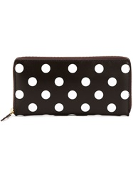 Comme Des Garcons Wallet 'Polka Dots Printed' Wallet Brown