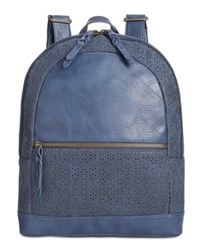 Styleandco. Style Co. Airyell Daisy Perforated Backpack Only At Macy's Navy