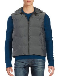 Michael Kors Hooded Quilted Puffer Vest Charcoal