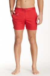 Parke And Ronen 5' Lido Axiom Swim Trunk Red
