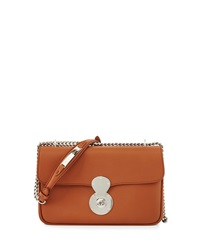 Ralph Lauren Ricky Chained Leather Shoulder Bag Tan