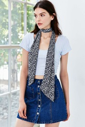 Urban Outfitters Silk Skinny Scarf Navy