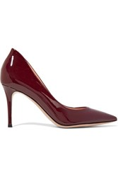 Gianvito Rossi Patent Leather Pumps Burgundy
