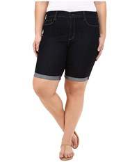 Nydj Plus Size Plus Size Briella Roll Cuff Shorts Dark Enzyme Wash Women's Shorts Black