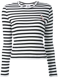 Zoe Karssen Striped Slim Fit Jumper White