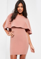 Missguided Pink Overlay Bodycon Dress Rose