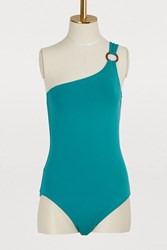 Vilebrequin Friza Asymmetrical One Piece Swimsuit Green