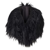 Phase Eight Collection 8 Beaded Faux Fur Cape Black