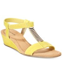 Alfani Women's Vacay Wedge Sandals Only At Macy's Women's Shoes Agave Yellow