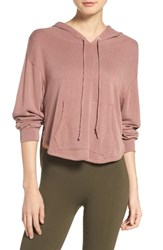Free People Women's Back Into It Cutout Hoodie Rose