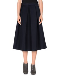 Biancoghiaccio Skirts 3 4 Length Skirts Women Dark Blue