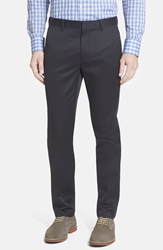 Bonobos 'Weekday Warrior' Non Iron Tailored Cotton Chinos Tuesday Blacks