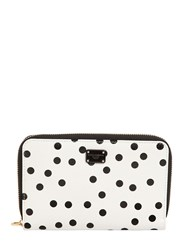 Dolce And Gabbana Small Polka Dot Leather Zip Wallet