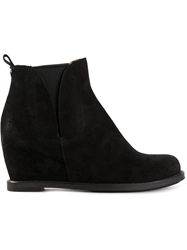 Buttero Wedge Boots Black