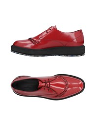 Alberto Guardiani Lace Up Shoes Red