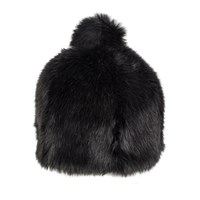 Dents Women S Faux Fur Hat With Pom Black