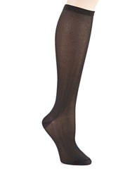 Kate Spade Sparkle Knee Hi Socks Black