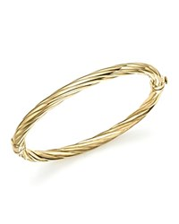 Bloomingdale's 14K Yellow Gold Twisted Hinge Bangle