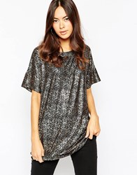 Minimum Shimmer Boyfriend T Shirt 999Black