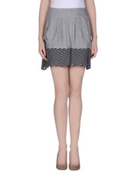 Pianurastudio Mini Skirts Grey