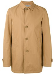 Herno Single Breasted Coat Men Cotton Polyamide Polyester Modal 56 Nude Neutrals