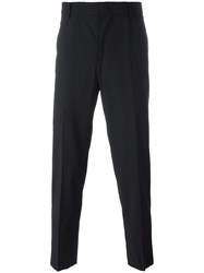 Juun.J Pleated Tapered Trousers Black