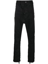 11 By Boris Bidjan Saberi Waxed Drop Crotch Trousers 60