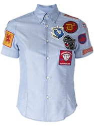 Dsquared2 Patch Short Sleeved Shirt Blue