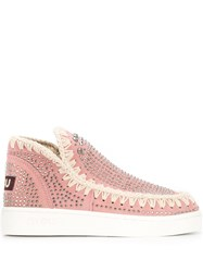 Mou Woven Boots Pink