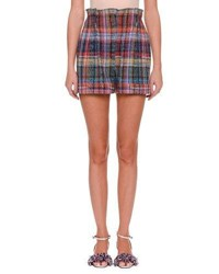 Missoni Rainbow Check Shorts Multi Pattern