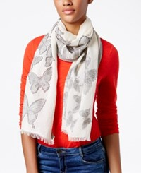 Inc International Concepts Butterfly Oblong Scarf Only At Macy's Black