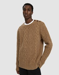 Polo Ralph Lauren Cable Knit Sweater Camel Donegal