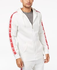 American Stitch Men's Zip Front Hoodie White