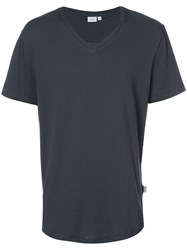 Onia Joey V Neck T Shirt Men Cotton Spandex Elastane Xl Grey