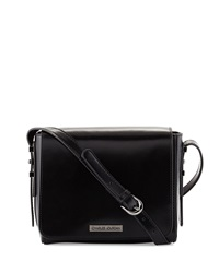 Charles Jourdan Mali Flap Top Leather Crossbody Bag Black