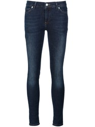 Anine Bing Mid Rise Skinny Jeans Blue