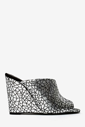 Nasty Gal Jeffrey Campbell Jovie Leather Wedge Silver